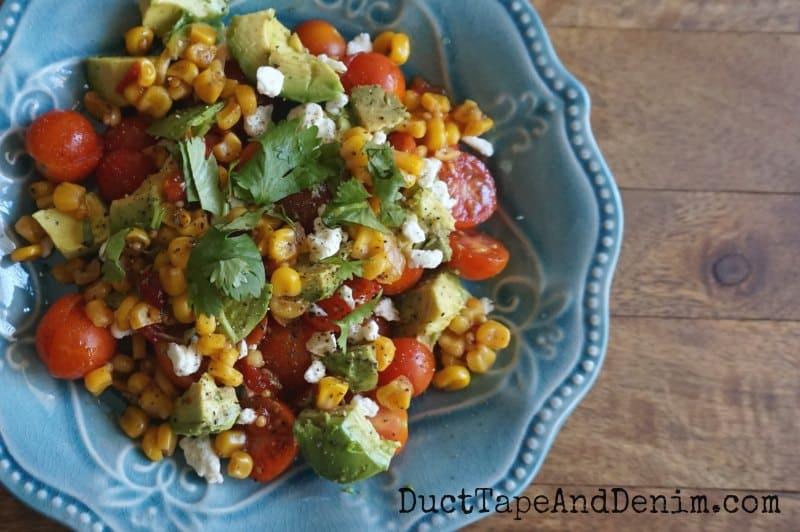 Tomato avocado corn salsa salad recipe | DuctTapeAndDenim.com