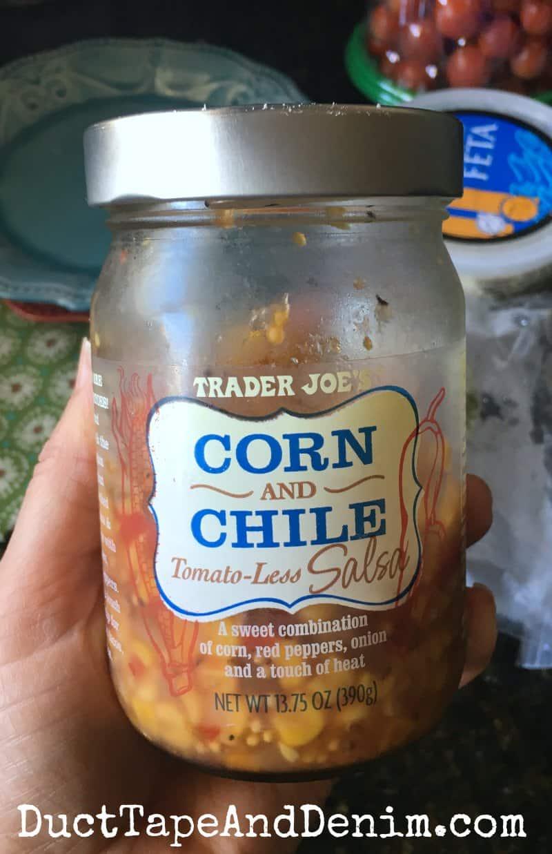 Trader Joe's Corn and Chile Tomato-Less Salsa | DuctTapeAndDenim.com