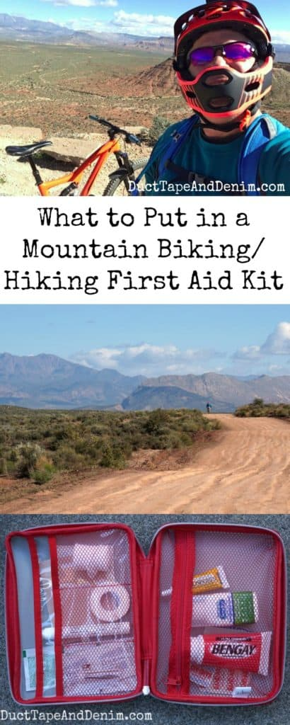 What to put in a mountain biking hiking first aid kit | DuctTapeAndDenim.com