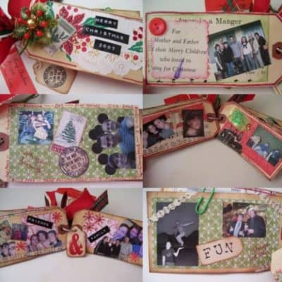 How to Make a Shipping Tag Christmas Album Out of Scraps