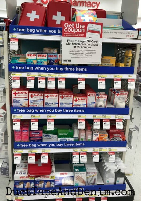 first aid bag in store photo target | DuctTapeAndDenim.com