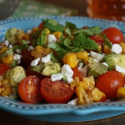 tomato avocado corn salsa salad recipe SQUARE