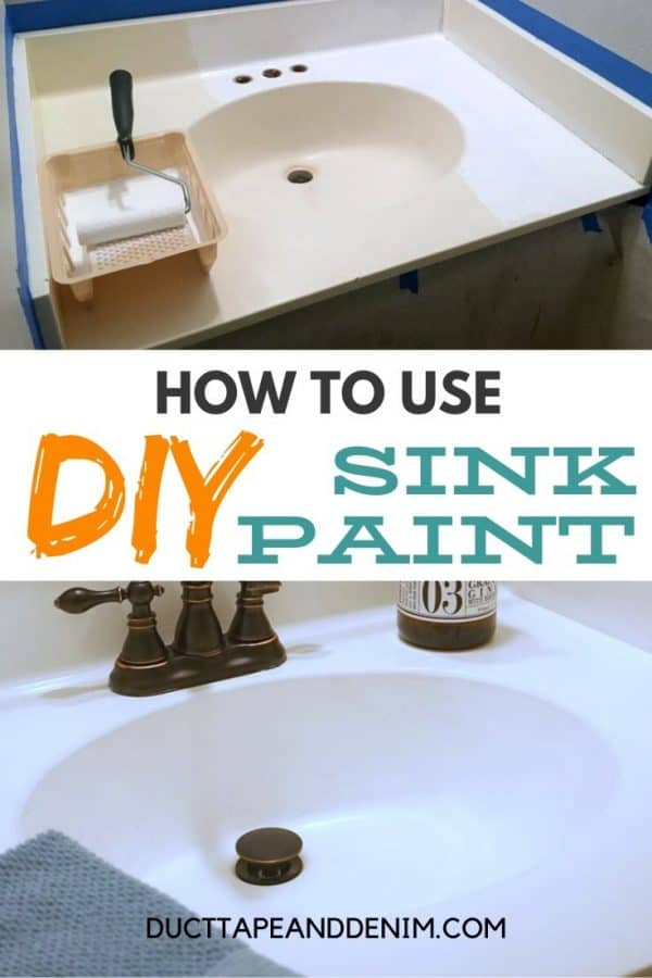 how to use diy sink paint