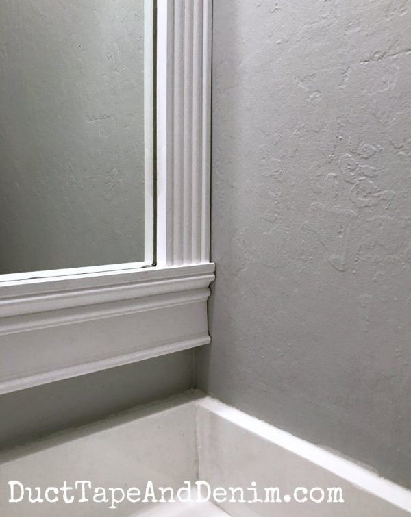 Close up of best bathroom paint I've ever used | DuctTapeAndDenim.com