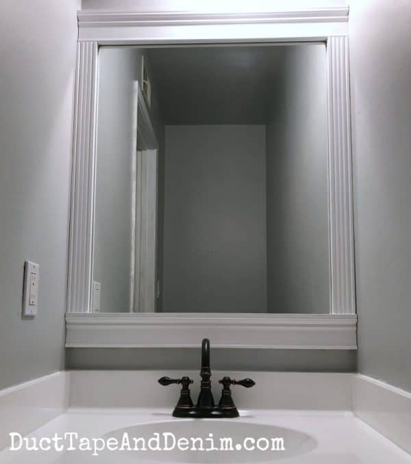 Finished painting bathroom makeover | DuctTapeAndDenim.com