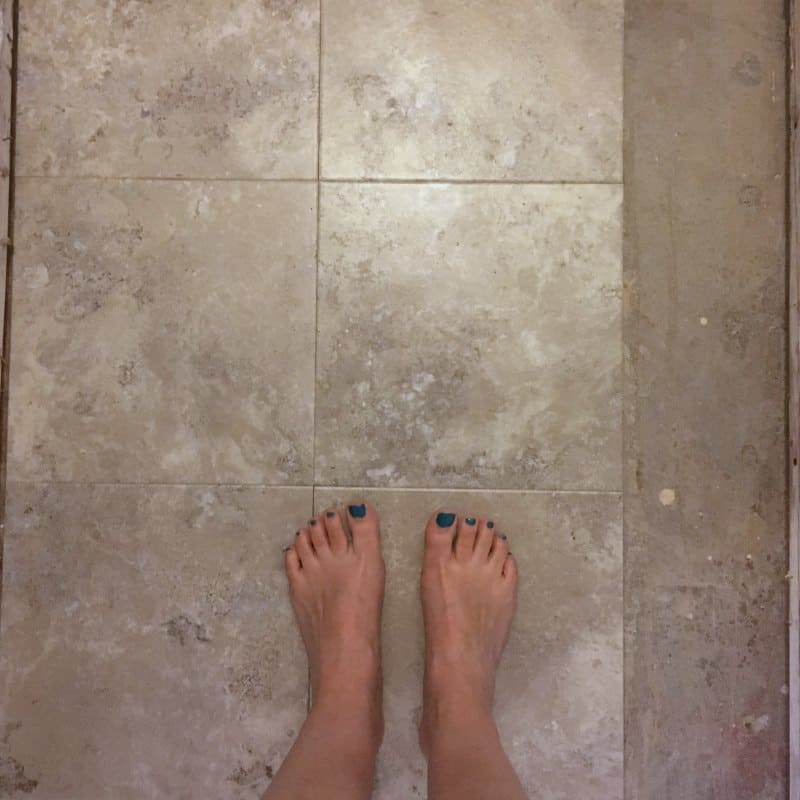 Why We Used Peel And Stick Tile On Our Powder Room Floors