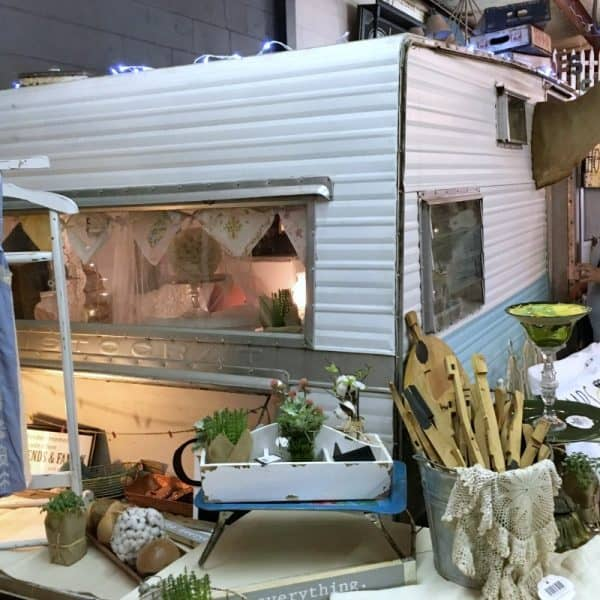 Inside Shades of Shabby, vintage camper SQUARE