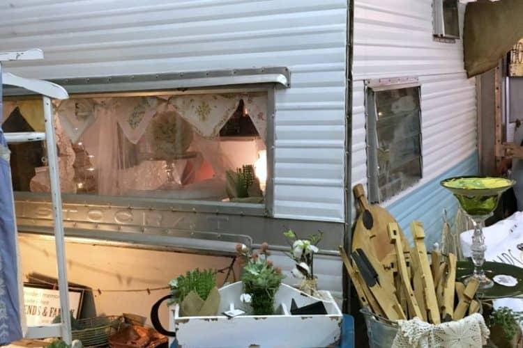 Inside Shades of Shabby, vintage camper SQUARE