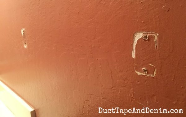Need to repair where the towel bar was removed | DuctTapeAndDenim.com