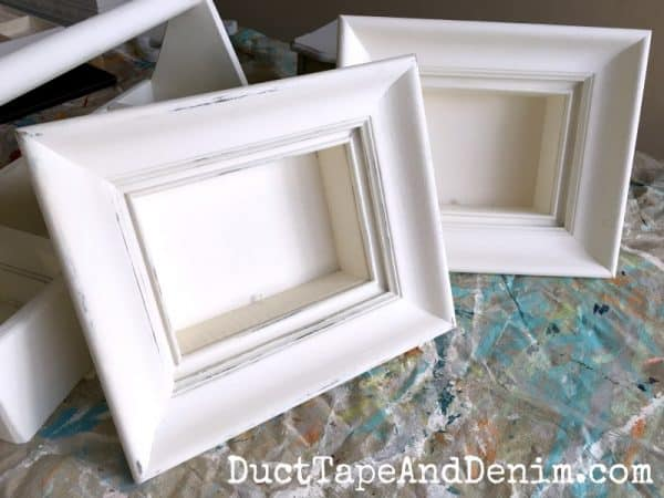 Painted thrift store frames | DuctTapeAndDenim.com