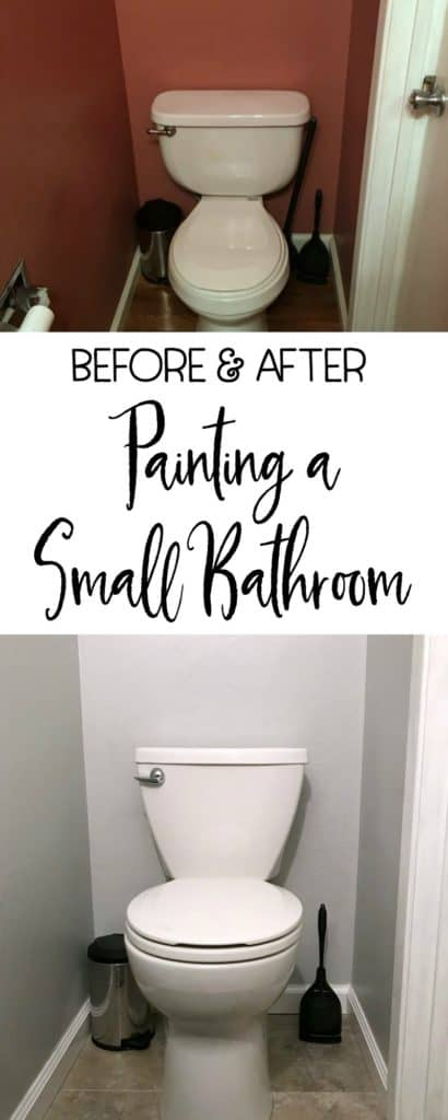 Painting a small bathroom, I think I found the best paint for bathrooms | DuctTapeAndDenim.com