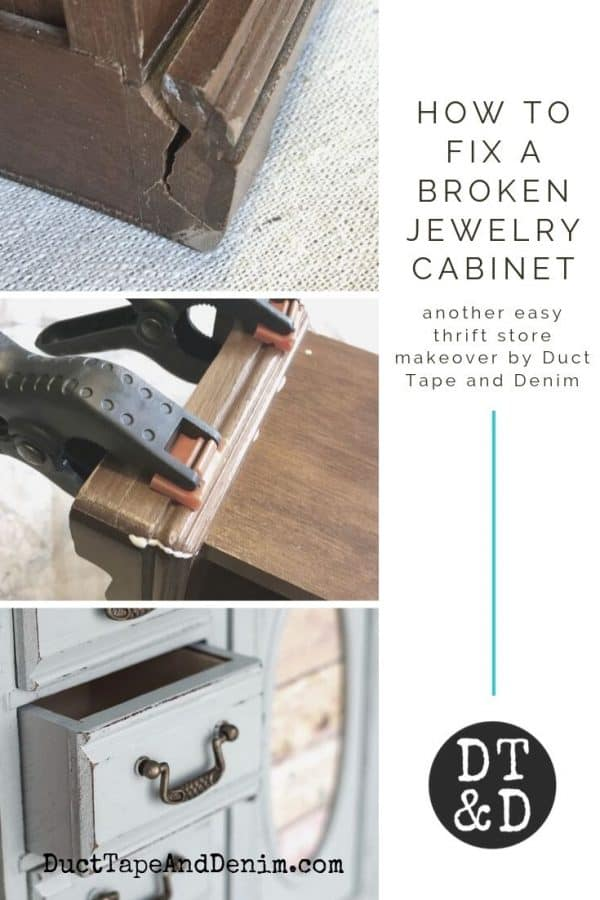 how to fix a broken jewelry cabinet 1910