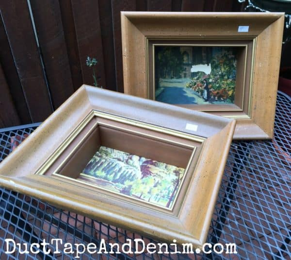 Shadow box frames BEFORE painting | DuctTapeAndDenim.com