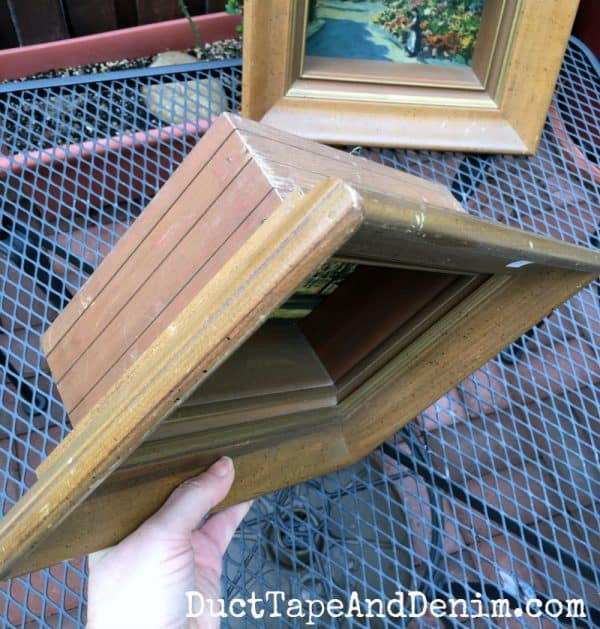 Shadow box frames from thrift store | DuctTapeAndDenim.com