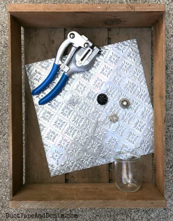 Supplies for my magnet board message center | DuctTapeAndDenim.com