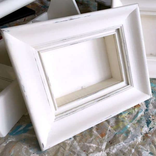 Thrift store makeover shadow box frame SQUARE