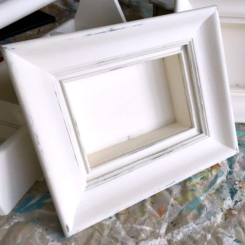 How to Paint Shadow Box Frames to Display Vintage Collections & Our ...