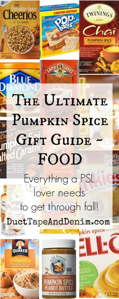 Ultimate pumpkin spice gift guide - FOOD on DuctTapeAndDenim.com