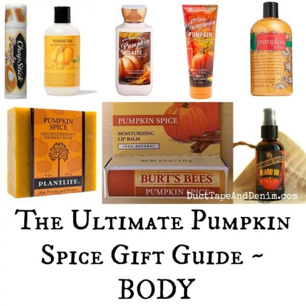 Ultimate pumpkin spice gift guide - personal hair skin products for your body on DuctTapeAndDenim.com