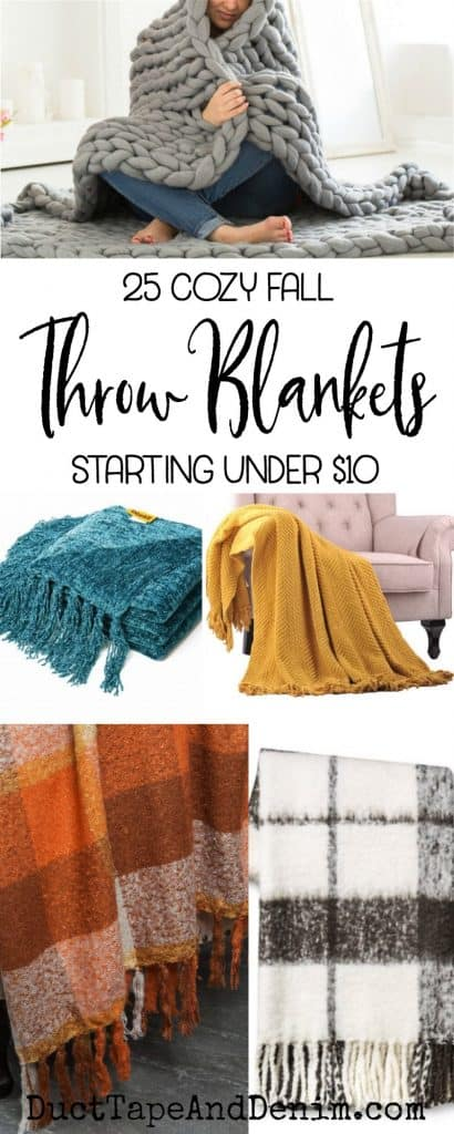 25 cozy fall throw blankets starting under $10 | DuctTapeAndDenim.com