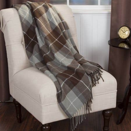 brown cashmere like fall throw blanket from Walmart