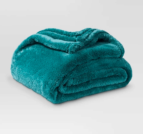 teal throw blanket