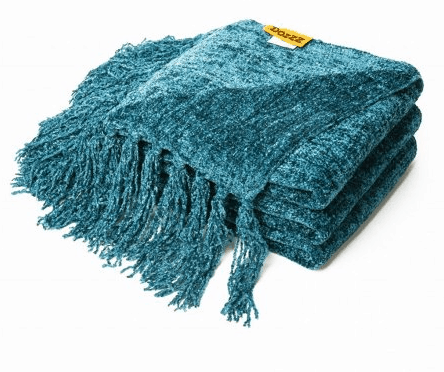 turquoise blue throw blanket for fall