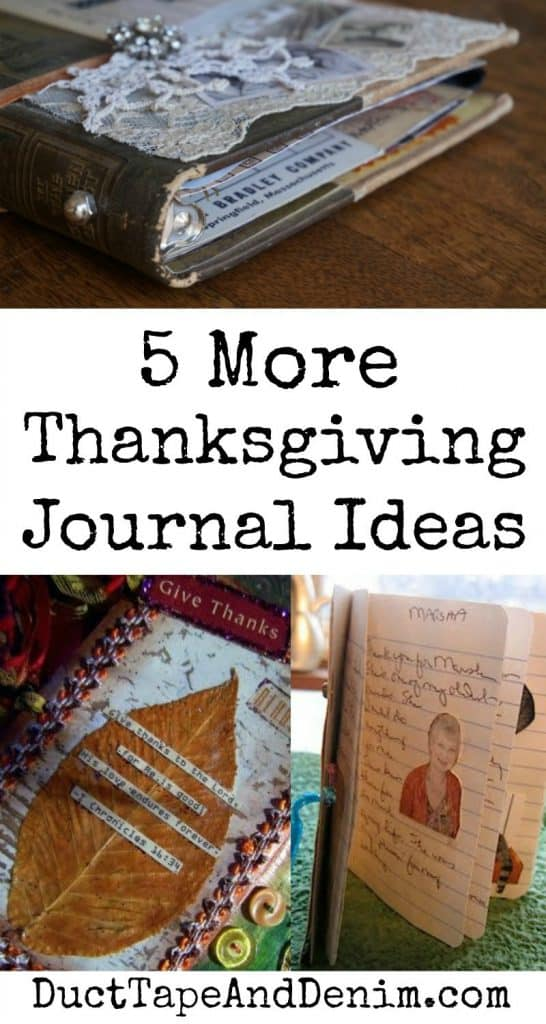 5 More Thanksgiving Journal Ideas on #30DoT at DuctTapeAndDenim.com