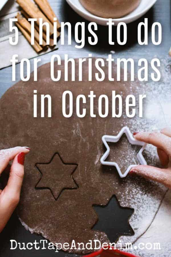 5 things to do for Christmas in October