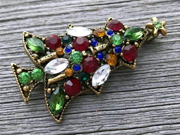 Christmas brooch for mom, Christmas tree