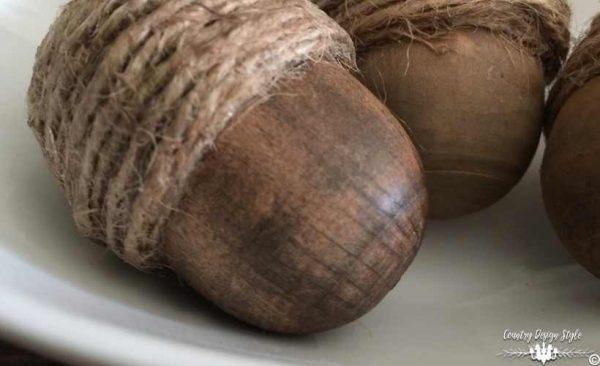 diy wood acorns