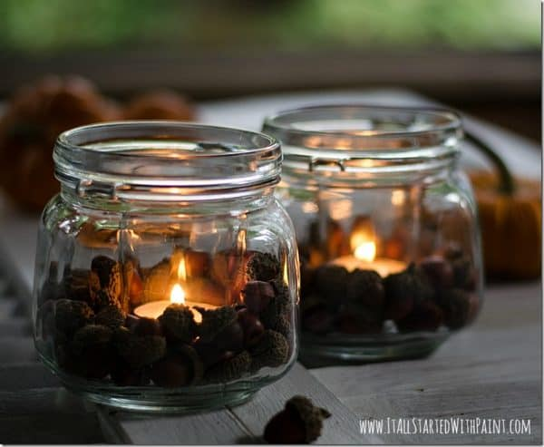 acorn votive candle