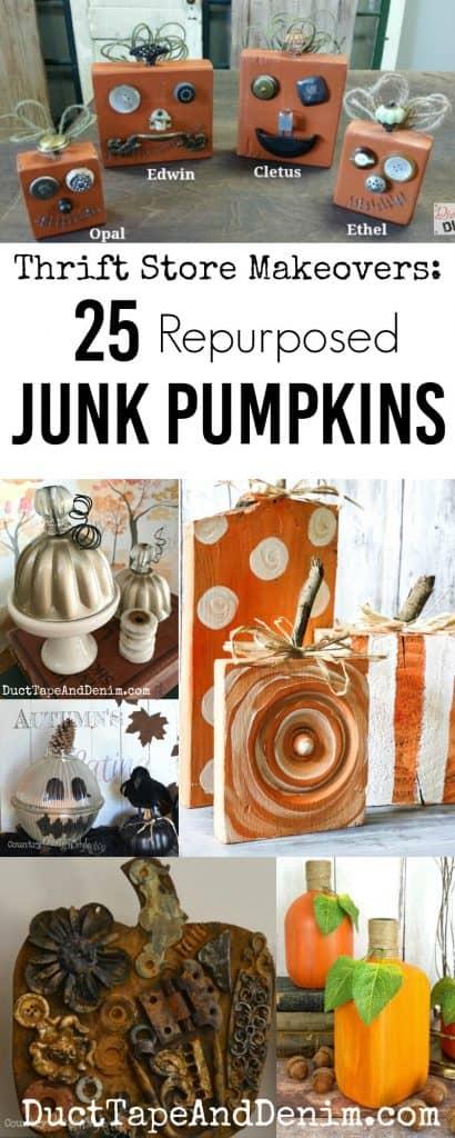 25 Repurposed Junk Pumpkins | DuctTapeAndDenim.com