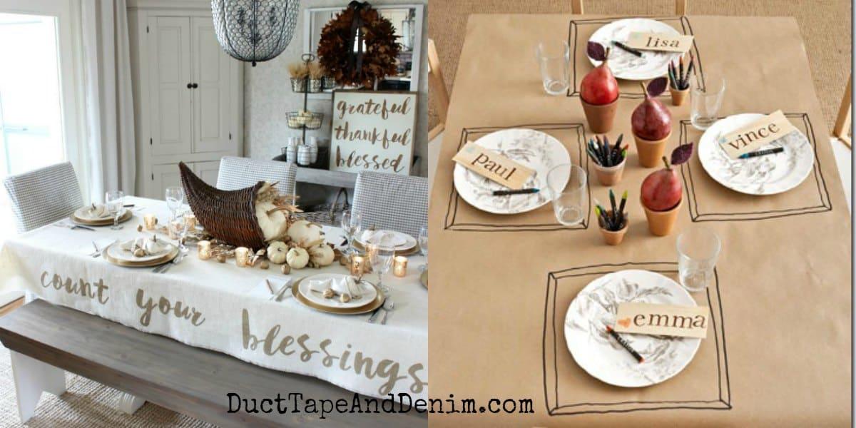5 Easy DIY Thanksgiving Tablecloth Ideas