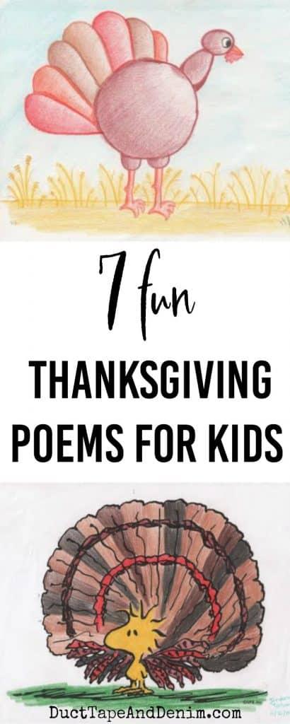 7 Fun Thanksgiving Poems for Kids, #30DoT on DuctTapeAndDenim.com