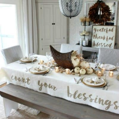 Day 9:  5+ Thanksgiving Tablecloth Ideas