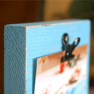How to Make a Wood Photo Holder, Perfect Gift for Grandparents