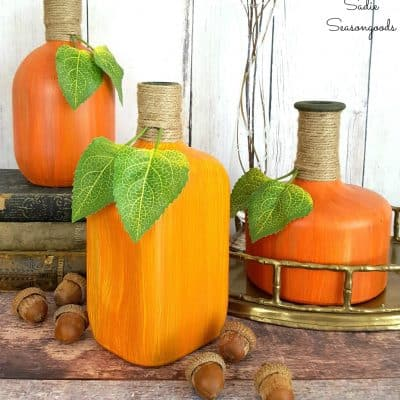 25 Easy Repurposed Junk Pumpkins You Can Make for Halloween & Thanksgiving
