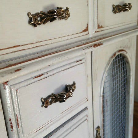 DIY Jewelry Cabinet Makeover with Folding Door