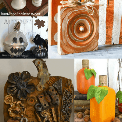 Day 17 – 25 Repurposed Junk Pumpkins to Make with Thrift Store Finds