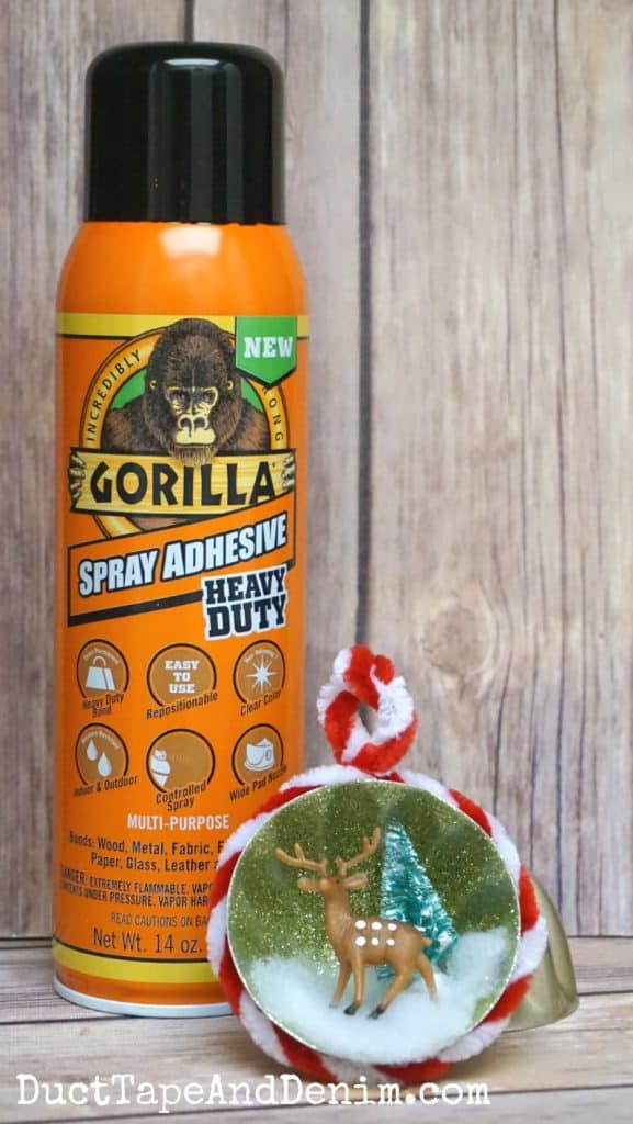 Gorilla Spray Adhesive Christmas Ornament | DuctTapeAndDenim.com
