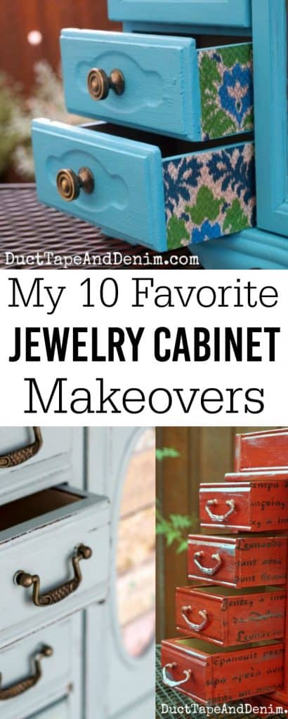 My 10 favorite thrift store jewelry cabinet makeovers