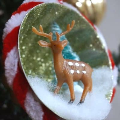 How to Make Upcycled Glitter Christmas Ornament