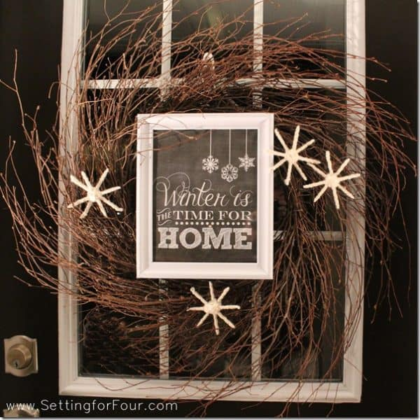 winter home wreath