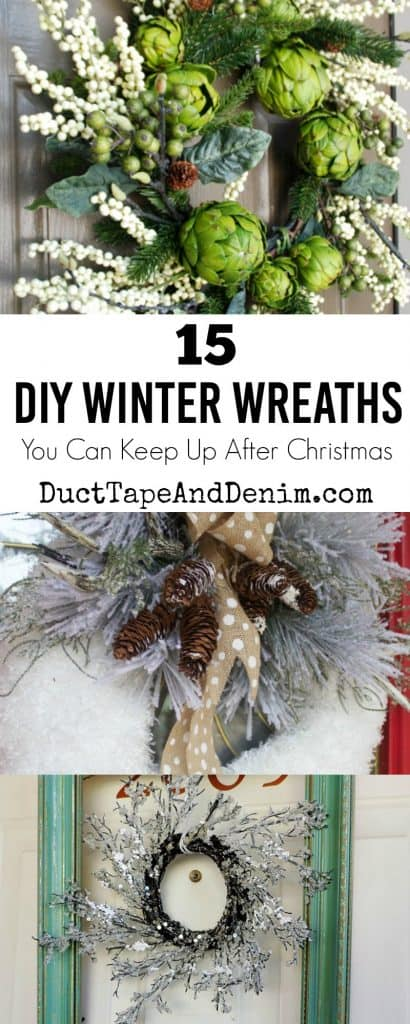 15 DIY winter wreaths you can keep up after Christmas on DuctTapeAndDenim.com