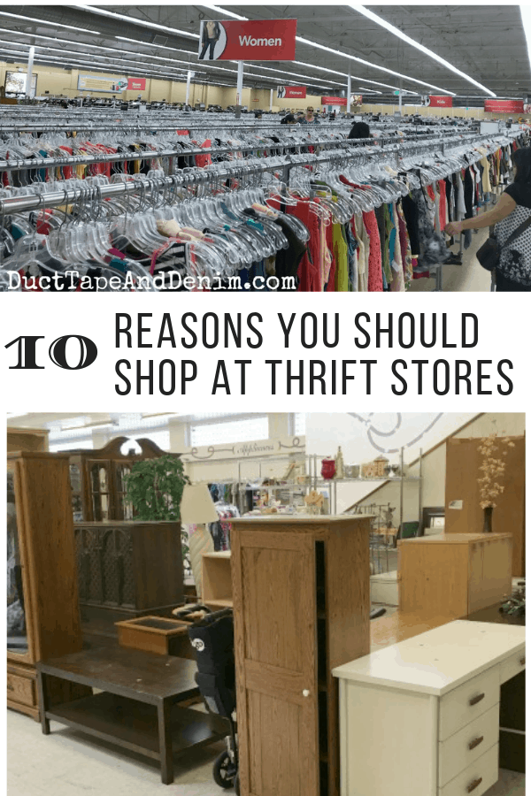 why shop at thrift stores, collage 2