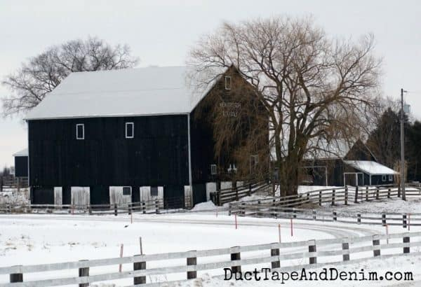 Black barn in Canada | DuctTapeAndDenim.com