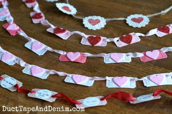 DIY Valentine's Day garlands | DuctTapeAndDenim.com