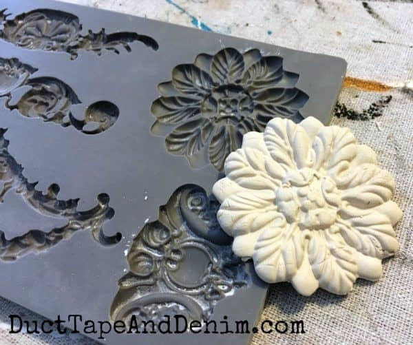 Making paper clay mold | DuctTapeAndDenim.com