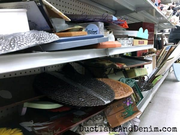 Messy shelves at Goodwill | DuctTapeAndDenim.com